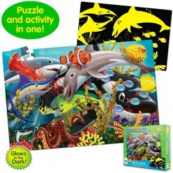 Learning Journey - Puzzle brilla en la oscuridad (glow in the dark) vida marina 100 piezas