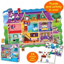 Learning Journey - Puzzle-doble + pegatinas Casa de muñecas 50 piezas